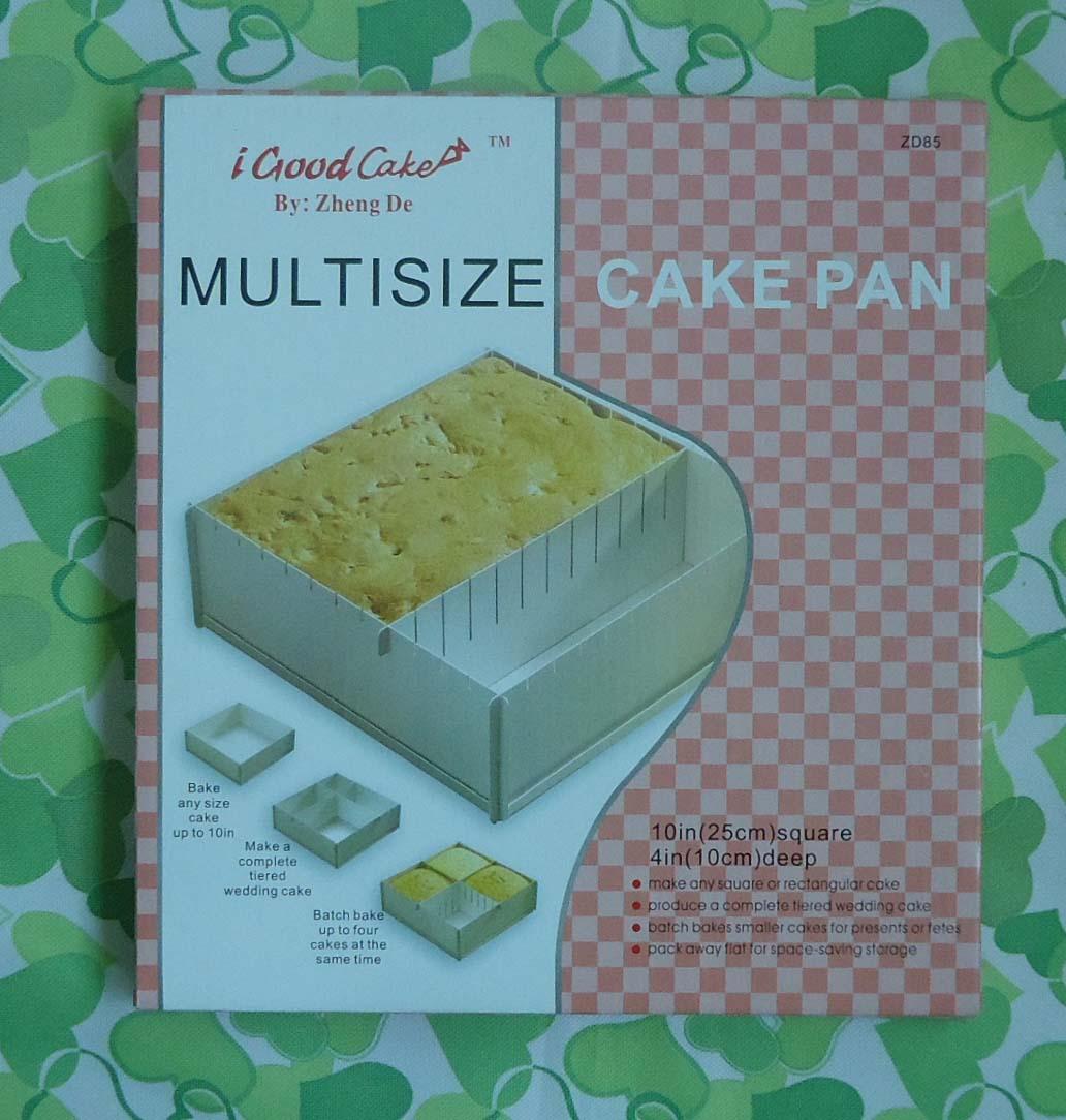 พิมพ์เค้ก อลูมิเนียม สี่เหลี่ยม MULTISIZE ขนาด 10*10 นิ้ว