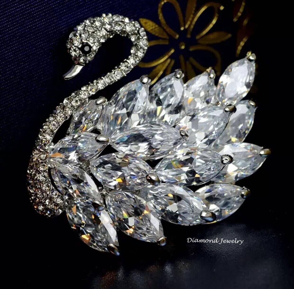 พร้อมส่ง Diamond Brooch เข็มกลัดเพชร งานเพชร CZ