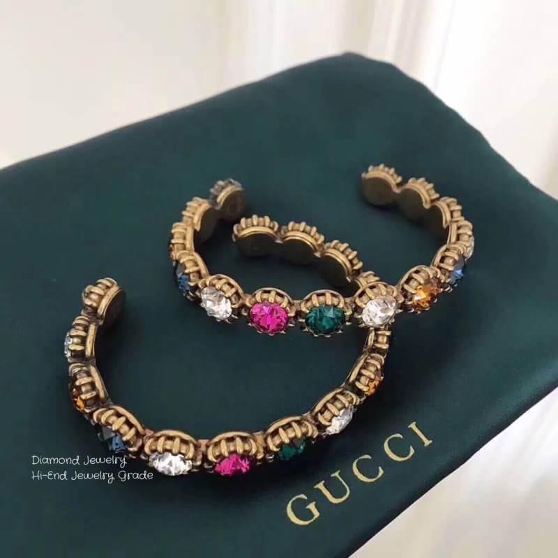 พร้อมส่ง Gucci Cuff Bracelet with Crystal กำไลข้อมือกุชชี่งาน 1:1