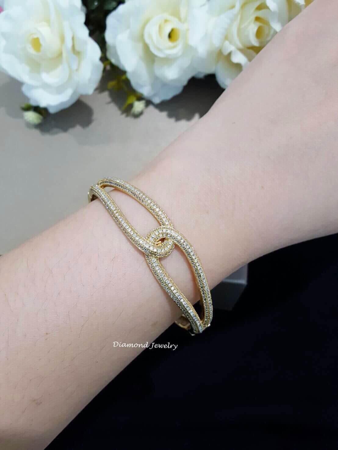 พร้อมส่ง Chanel Diamond Bangle งานสวยมาก