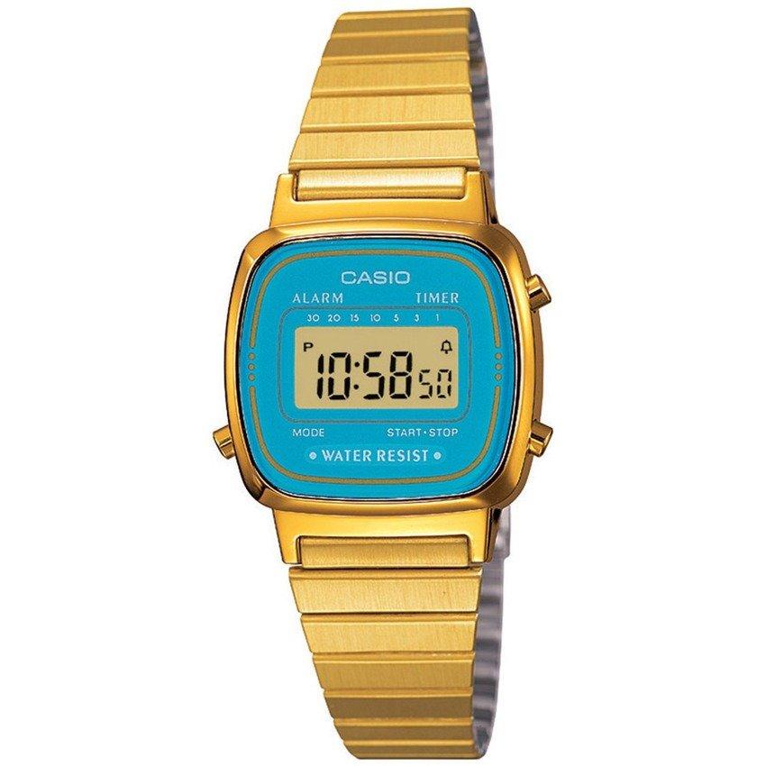 นาฬิกาข้อมือผู้หญิงCasioของแท้ LA670WGA-2DF CASIO นาฬิกา ราคาถูก ไม่เกิน สองพัน