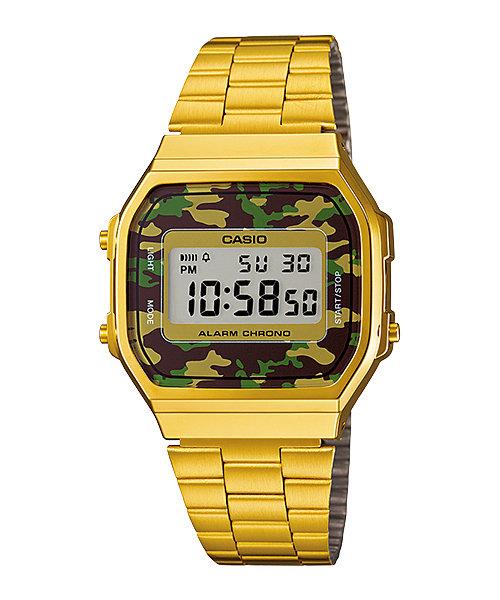 นาฬิกาข้อมือผู้หญิงCasioของแท้ A168WEGC-3 CASIO นาฬิกา ราคาถูก ไม่เกิน สามพัน