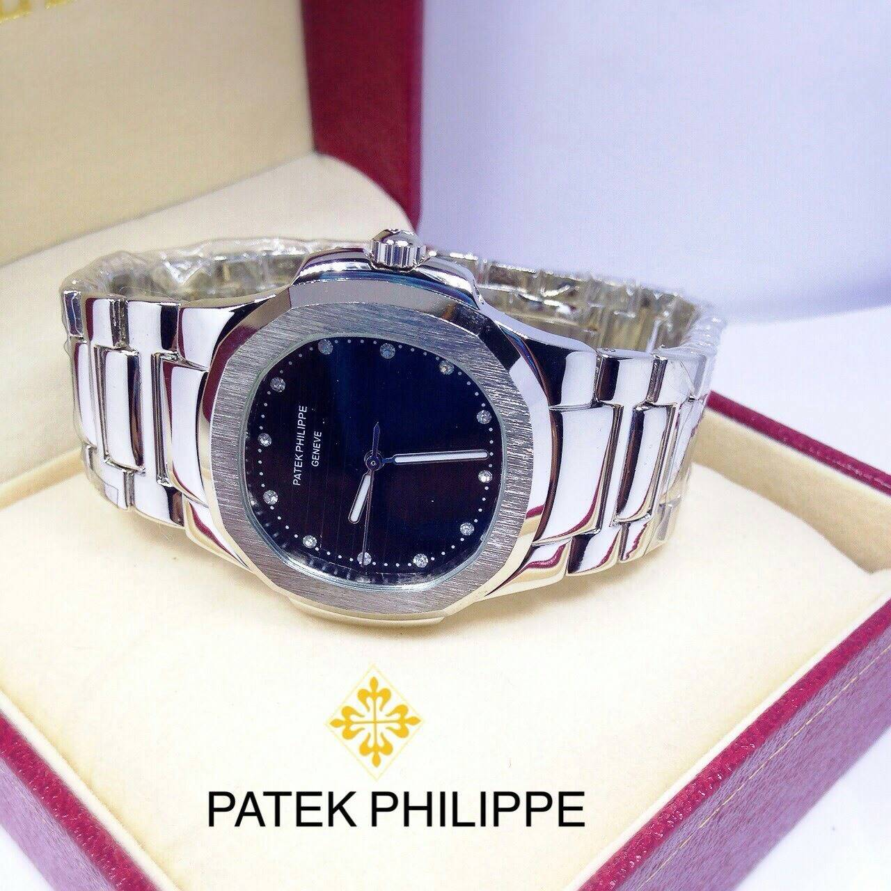 Patek phillipe นอติรุส เพชรจุด สีพิ้งค์ / สีเงิน / สีทองหน้าปัด 35 mm. ราคา 990 บาท