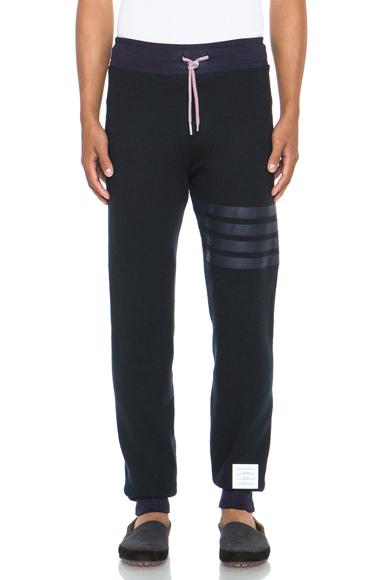 กางเกงวอร์มThom Browne Black-Grey SweatPants