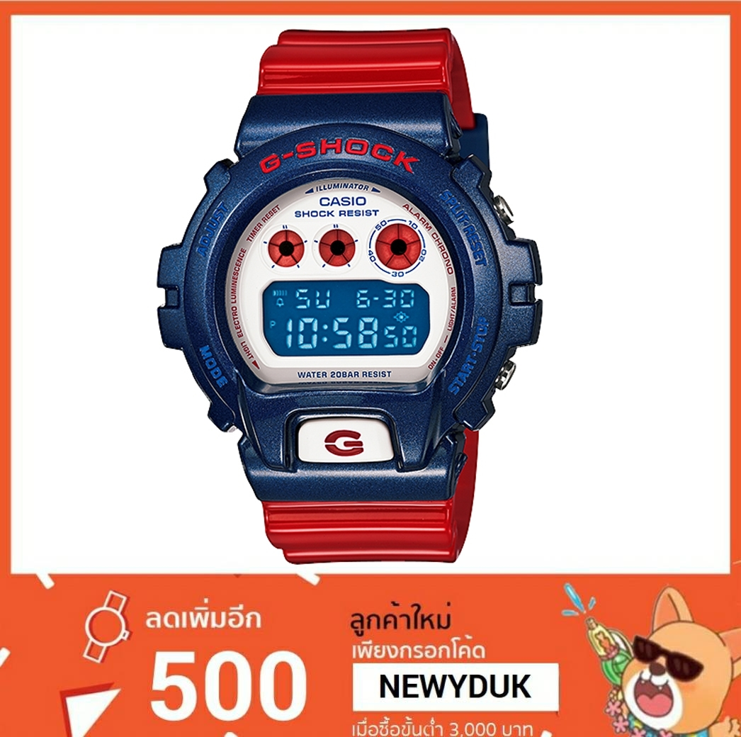 GShock G-Shockของแท้ ประกันศูนย์ DW-6900AC-2DR จีช็อค นาฬิกา ราคาถูก