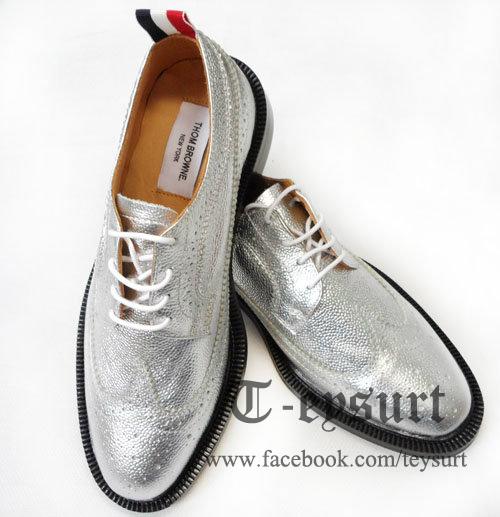 รองเท้าTHOM BROWNE METALLIC BROGUES WINGTIPS
