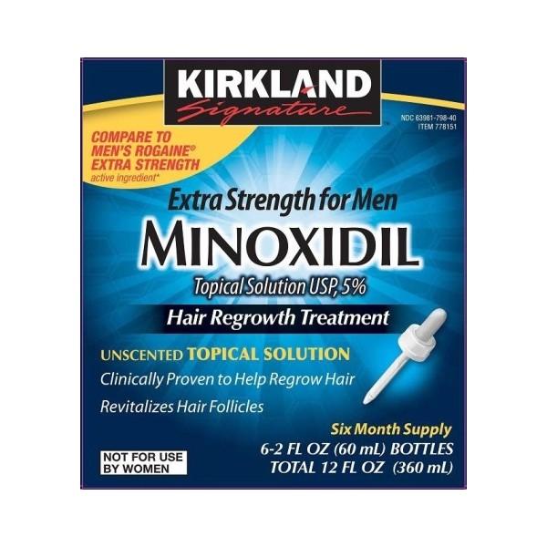Kirkland Minoxidil 5% Lotion Man's ยาปลูกผม ชนิดโลชั่น สำหรับผู้ชาย