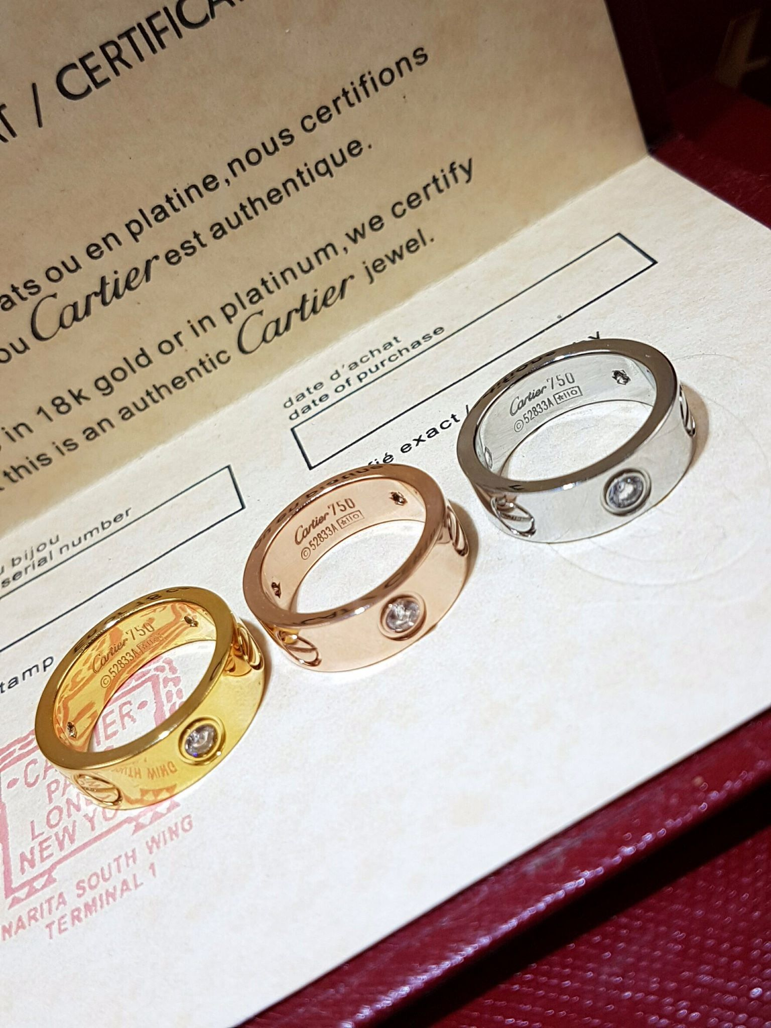 พร้อมส่ง Love4 diamond Ring แหวนรุ่นLOVE เพชร4เม็ด ฝังCZ8A