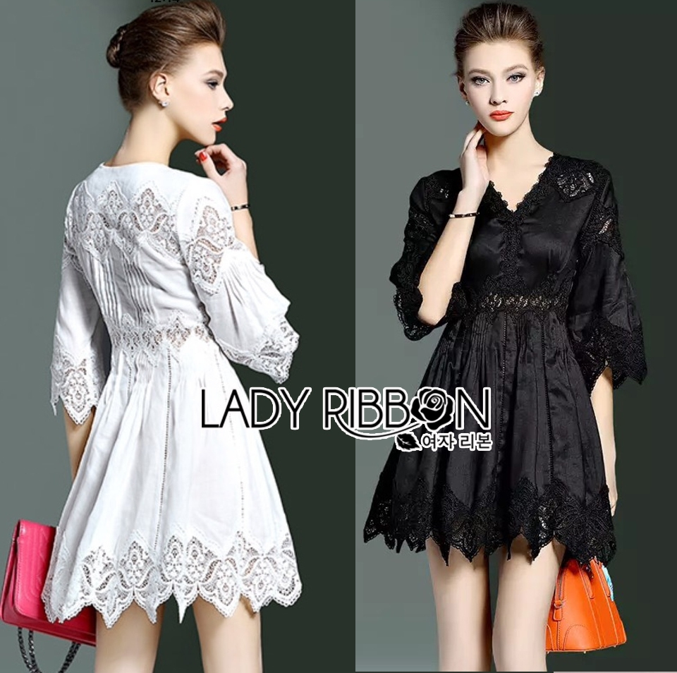 Kelly Lace Embroidered Cotton Mini Dress