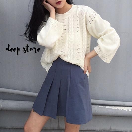 เสื้อผ้าเกาหลีพร้อมส่ง Smooch Sweater เสื้อไหมพรมแขนยาว