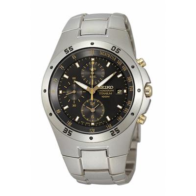 นาฬิกาข้อมือ SEIKO Titanium Grey Dial Gents Watch SND451P1 ของแท้