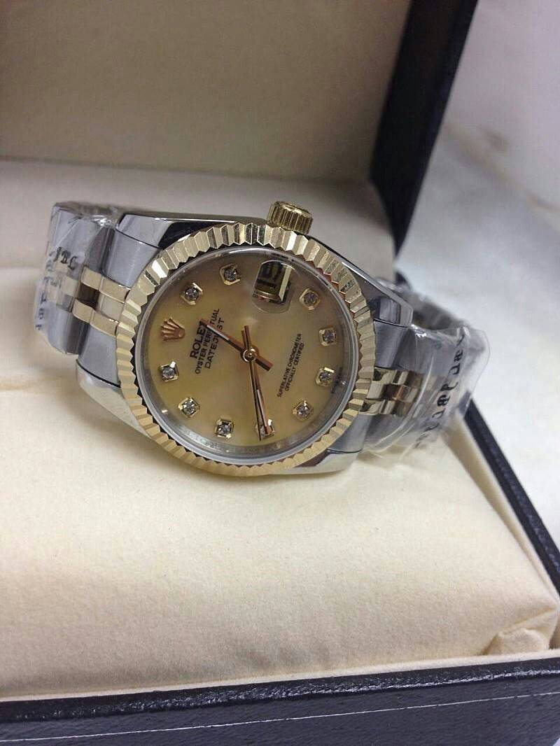 (Mirror) Date Just ROLEX-Datejust Diamond Dial/Jubilee,White Pearl 2 Tone