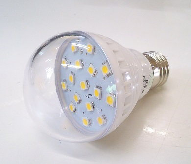 หลอดไฟ LED Bulb Warm White 3W 12V/24V (สีเหลือง)