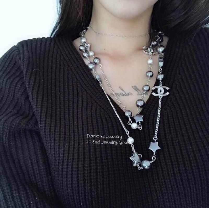 พร้อมส่ง Chanel Pearl Necklace รุ่นนี้เป็นงานมุกญี่ปุ่นเกรดดีมากคะ