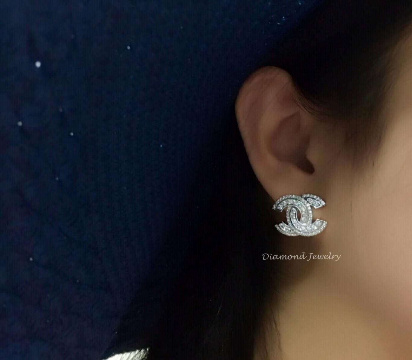 พร้อมส่งChanel Earring ต่างหูชาแนลเพชรเกรด 6A