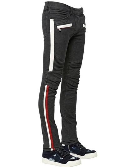 กางเกงBalmain Brands Stretch Denim Biker Jeans