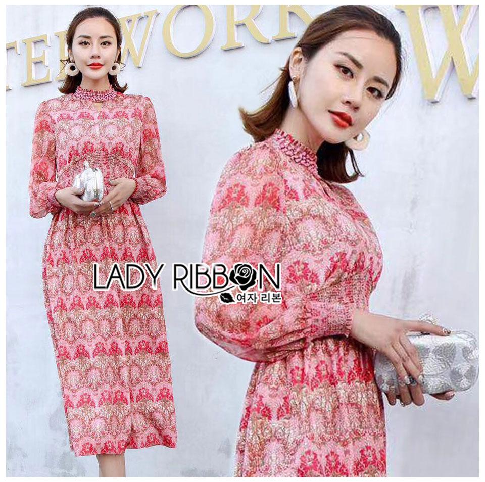 Eva Summer Blossom Embellished Smock Printed Dress