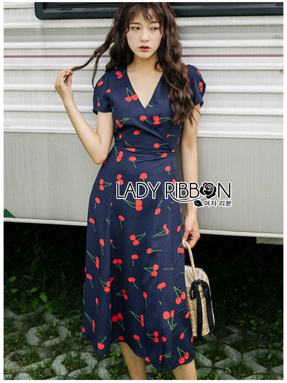 Beatrice Summer Cherries Printed Dress