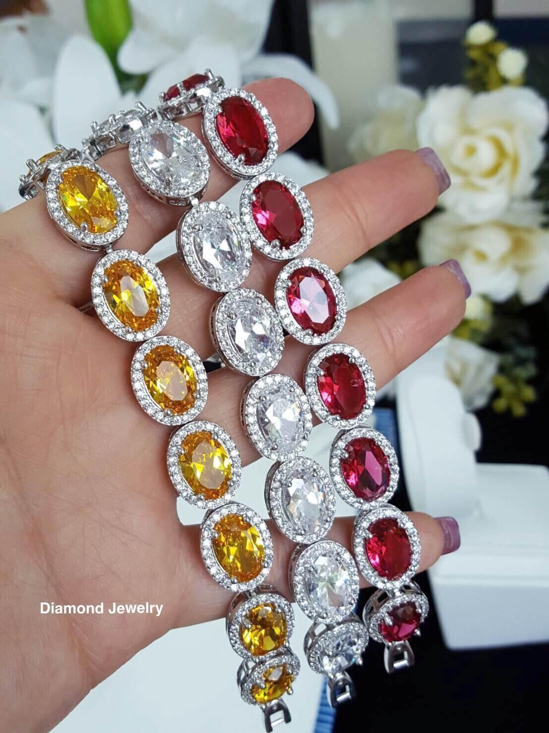 พร้อมส่ง Diamond Bracelet สร้อยข้อมือเพชรงานเกรดไฮเอนค่ะ