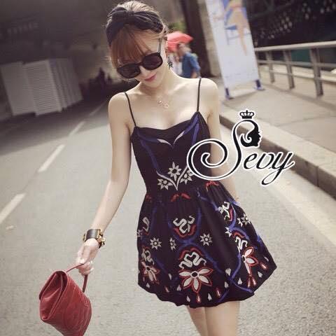 ชุดเดรสเกาหลี พร้อมส่ง Mini Dress ลุคนี้ให้สไตล์คุณหนูแสนซน แอบเปรี้ยวเล็กน้อย