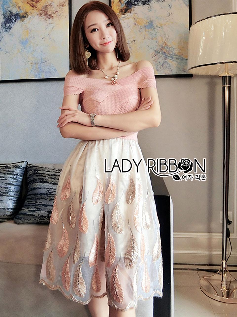 Courtney Feather Embroidered Silk Organza Dress
