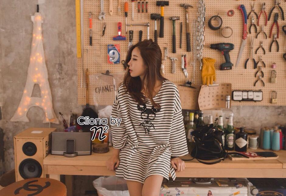 เสื้อผ้าเกาหลี พร้อมส่ง มินิเดรสน่ารักๆผ้า Cotton