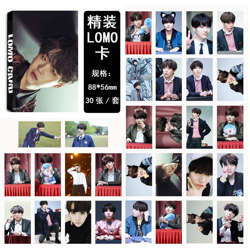 LOMO CARD BTS WINGS SUGA 03