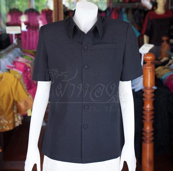 เสื้อสูทผ้าฝ้ายผสม สีดำ ไซส์ S
