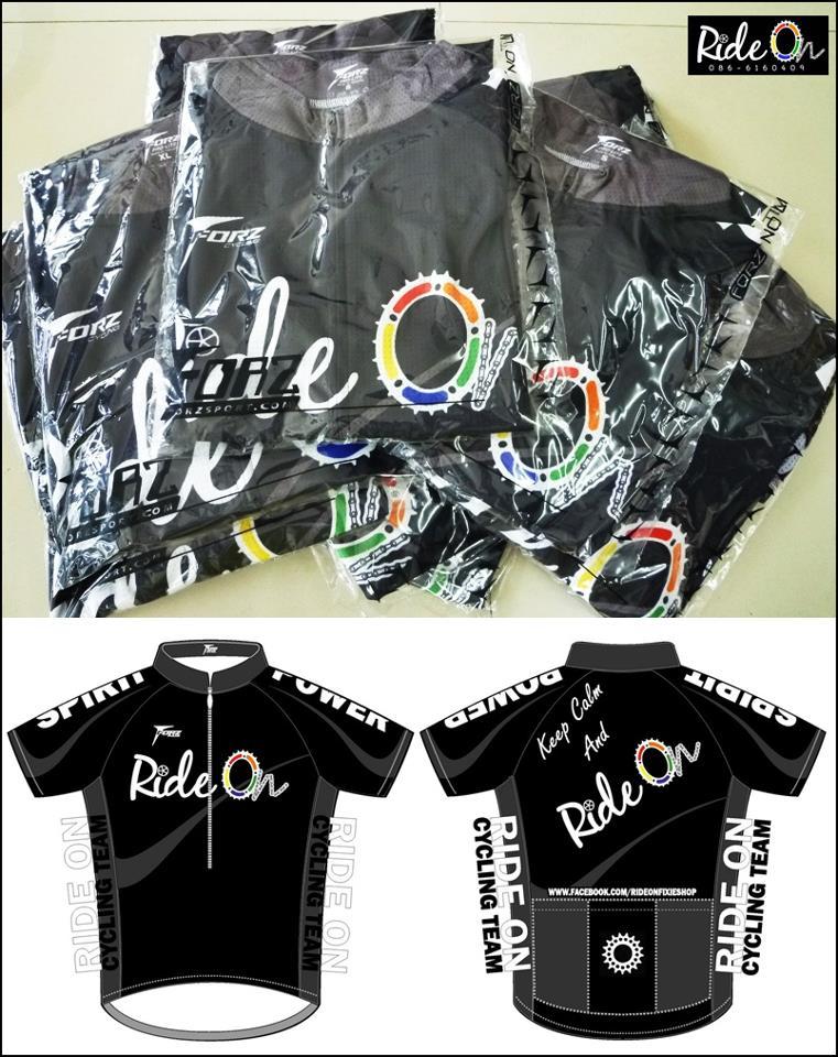 เสื้อปั่นจักรยาน RIDE ON Cycling