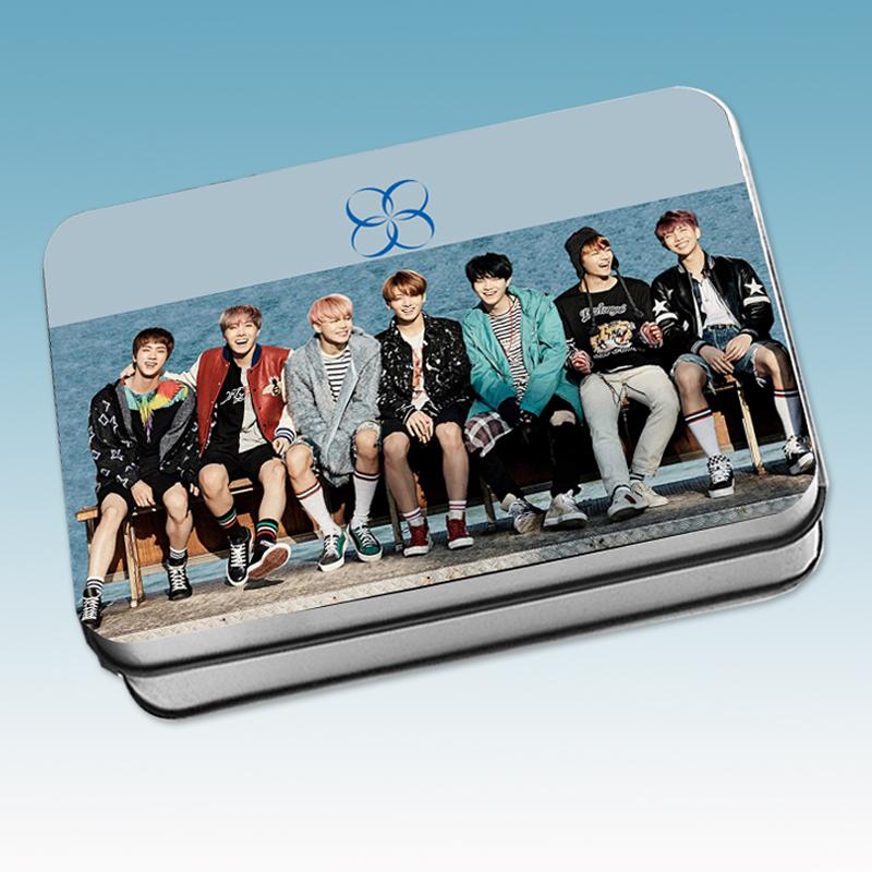 LOMO CARD +กล่องเหล็ก BTS WINGS YOU NEVER WALK ALONE