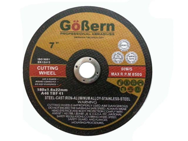 แผ่นตัดไฟเบอร์ 7 นิ้ว (ใบตัดไฟเบอร์) GoBern