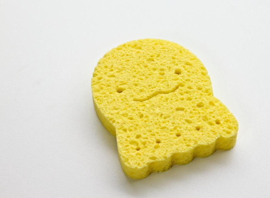 Ange Natural Cellulose Sponge ฟองน้ำธรรมชาติจากใยพืช (ปลาหมึก เหลือง)