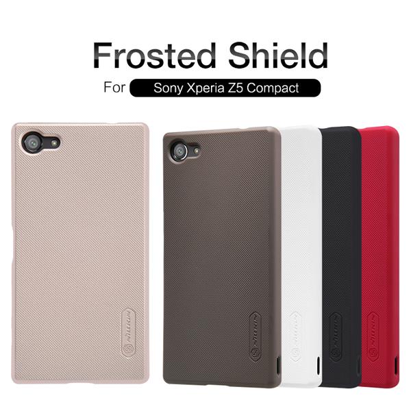 เคส Xperia Z5 Compact ของ Nillkin Super Frosted Shield Case +ฟิล์มกันรอย