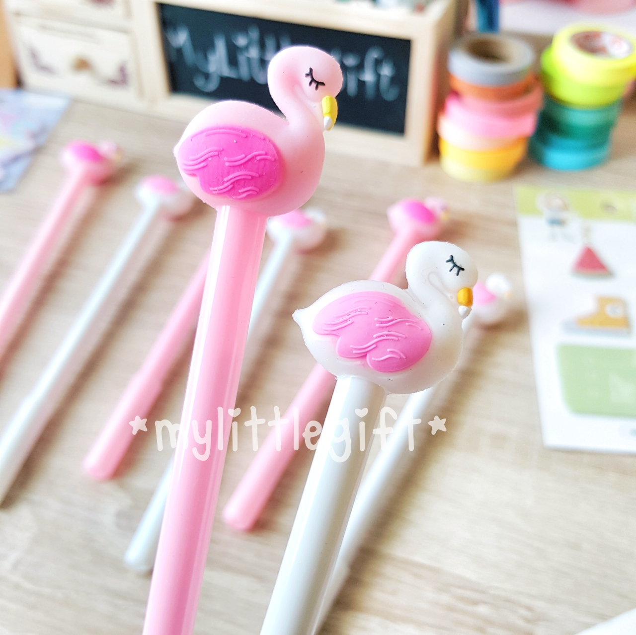 (มี 2 แบบให้เลือกค่ะ) Flamingo Gel Pen