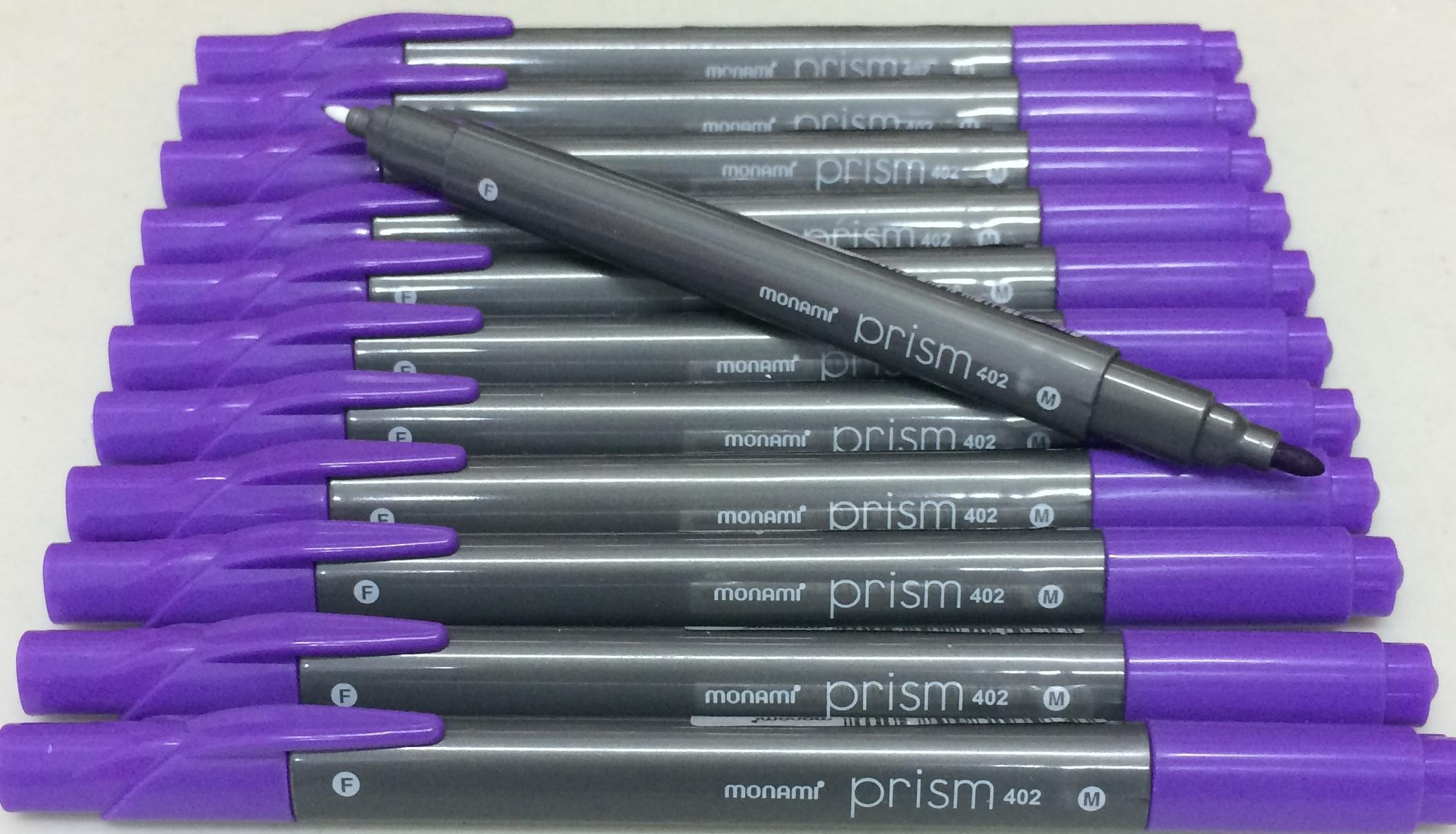 ปากกาสี 2 หัว Monami Prism 402 - Purple