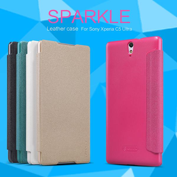 เคสฝาพับ Xperia C5 Ultra ของ Nillkin Sparkle Leather Case