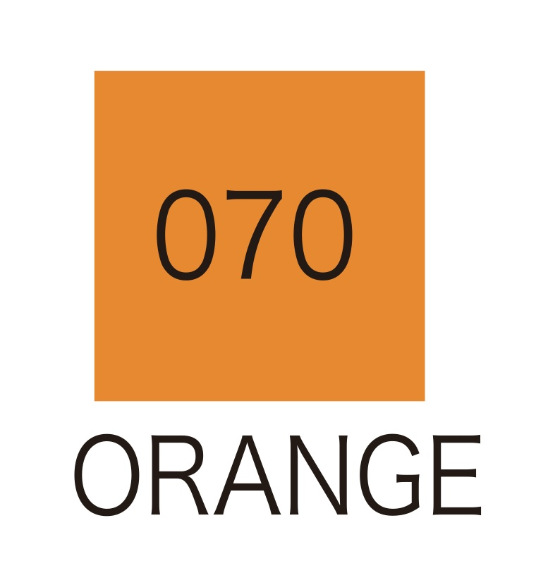 ปากกาสี 2 หัว ZIG CLEAN COLOR No.070 - Orange