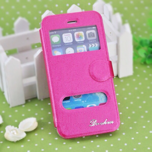 *Special Sale* iPhone 6 Stand Cover แบบฝาปิด สีชมพูเข้ม