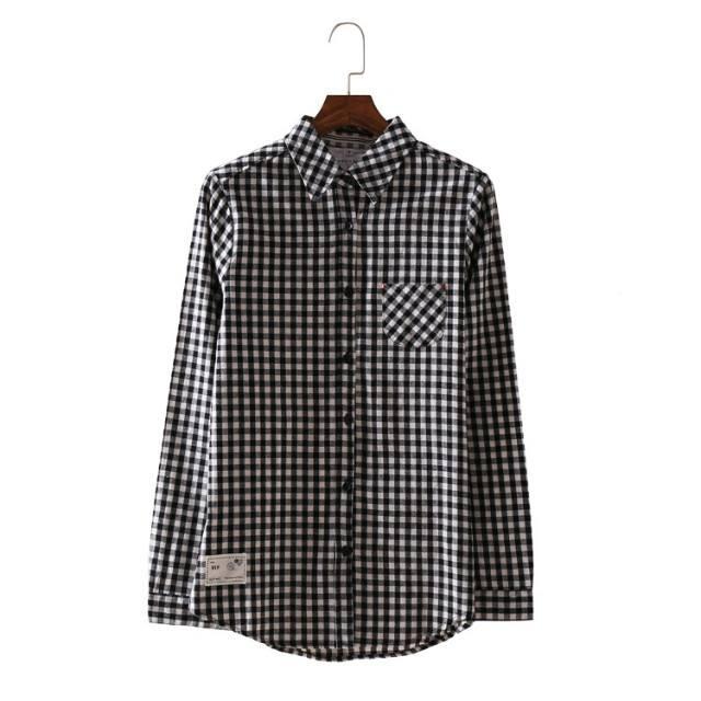 เสื้อเชิ้ตลายสก๊อต 4 สีดำ(Black)