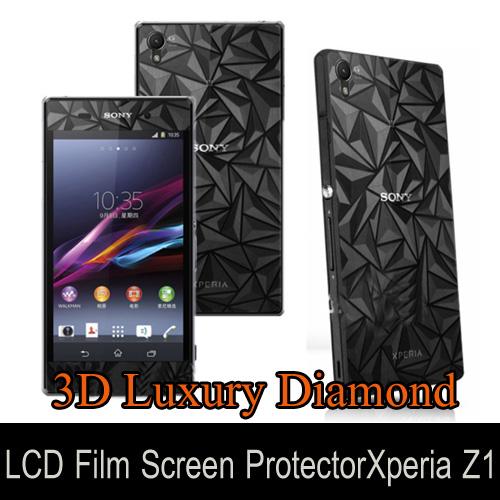 3D Luxury Diamond Film Screen Protector Xperia Z1 ด้านหน้า และด้านหลัง