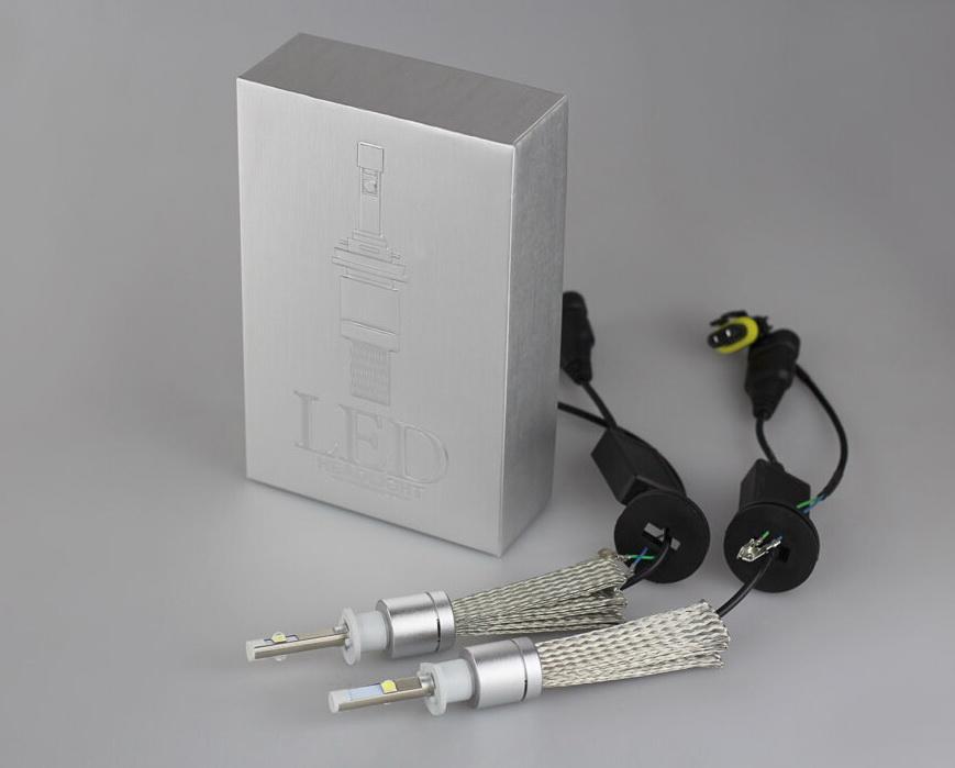 ไฟหน้า LED ขั้ว H1 Cree 2 ดวง 40W R3 No Fan