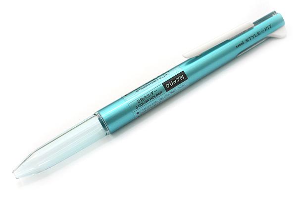 ด้ามเปล่าใส่ไส้ปากกา Uni Style Fit - 3 ไส้ มีคลิป Metallic Blue