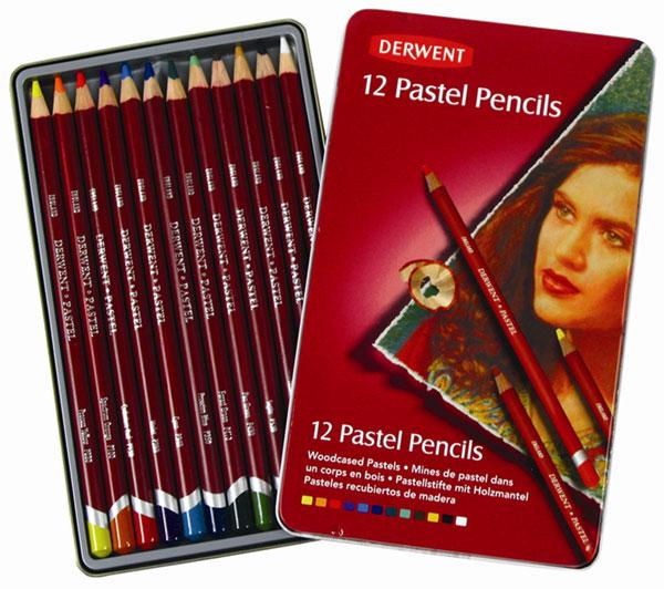 สีไม้ DERWENT Pastel Pencils - 12 Colours