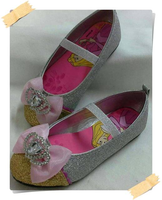 รองเท้าคัชชู เจ้าหญิง ออโรร่า สีทอง+เงิน