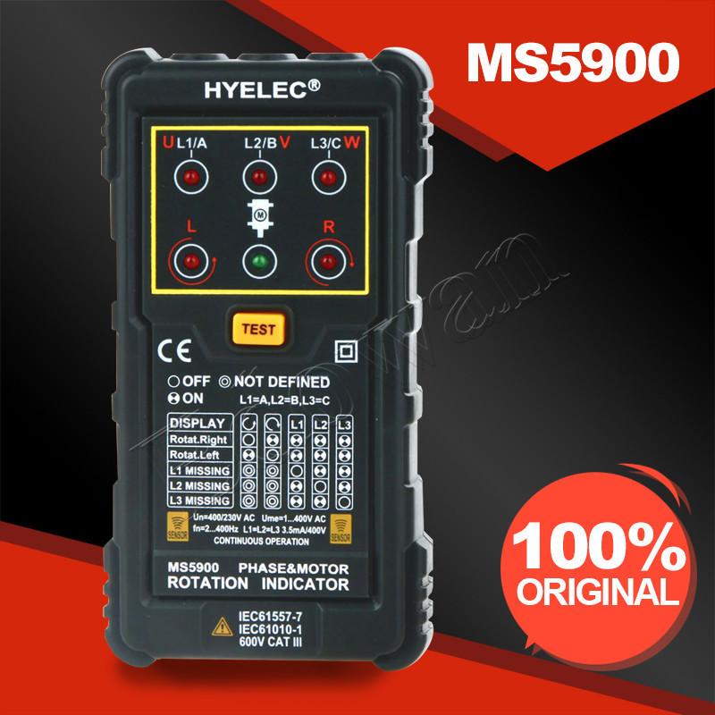 เครื่องวัดลำดับเฟส Hyelec MS5900 Motor 3-phase Rotation Indicator Meter ราคาถูก