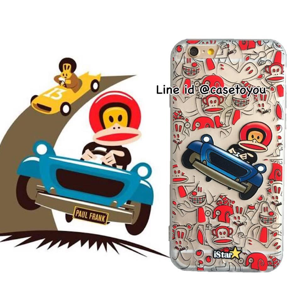 เคสใส สกรีนลายเส้นนูน Paulfrank iPhone 7