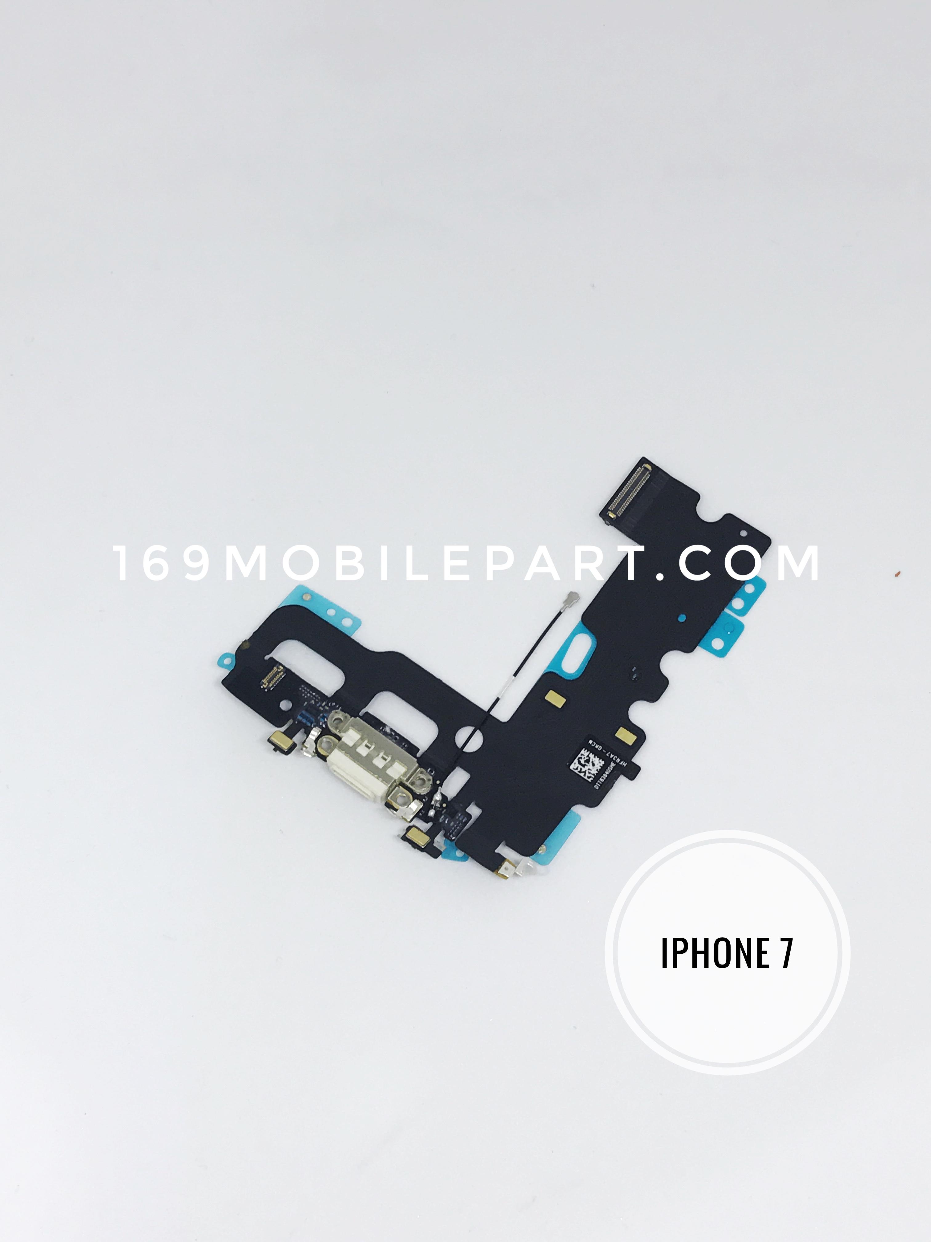 แพร USB + Mic (ตูดชารจ์) ไอโฟน 7 สีขาว (สำหรับเครื่องสีขาว,ทอง,ชมพู)