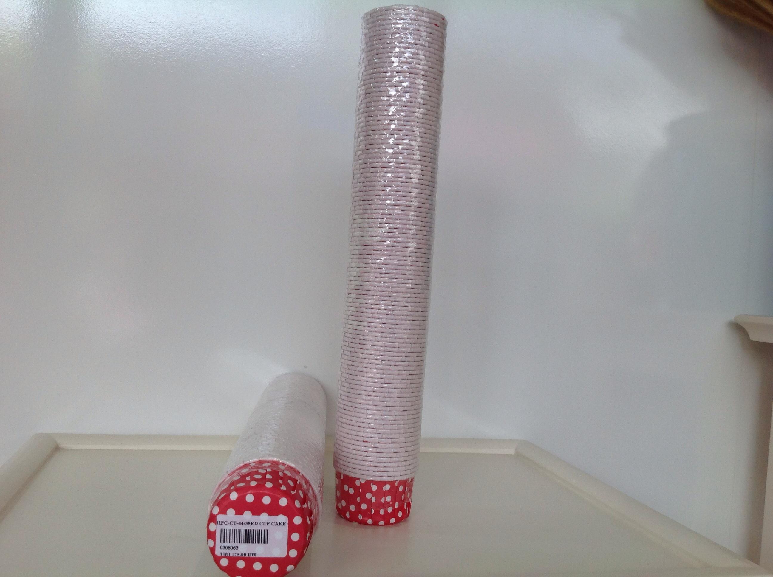 PC-CT-44/35RD Cup cake red dot (แดงจุด)