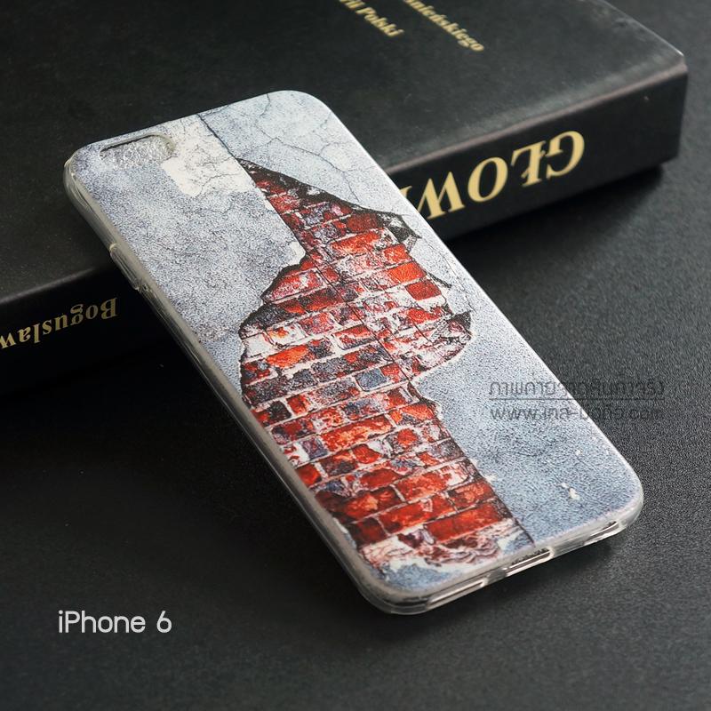 เคส iPhone 6 / 6s เคส TPU พิมพ์ลาย กำแพงแตก