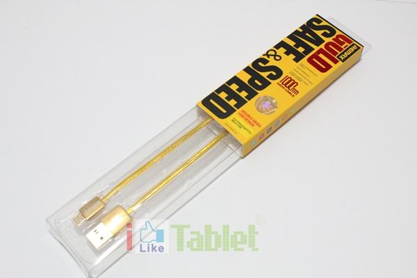 สายชาร์จ Remax Micro USB สีทอง ชาร์จเร็ว ใช้ทน สายหุ้มฉนวนอย่างดี